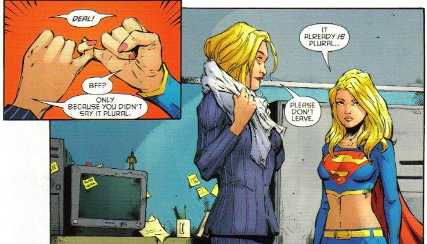 Batgirl and Supergirl meet Count Dracula (Several times)